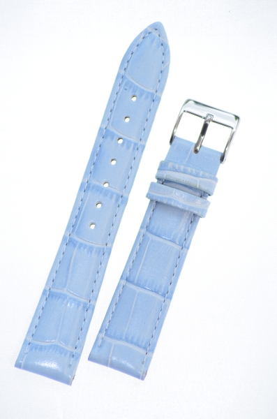3d647090d Padded Crocodile light blue Leather Watch Strap 18mm - Paddcroclightblu18 ·  Zoom Zoom