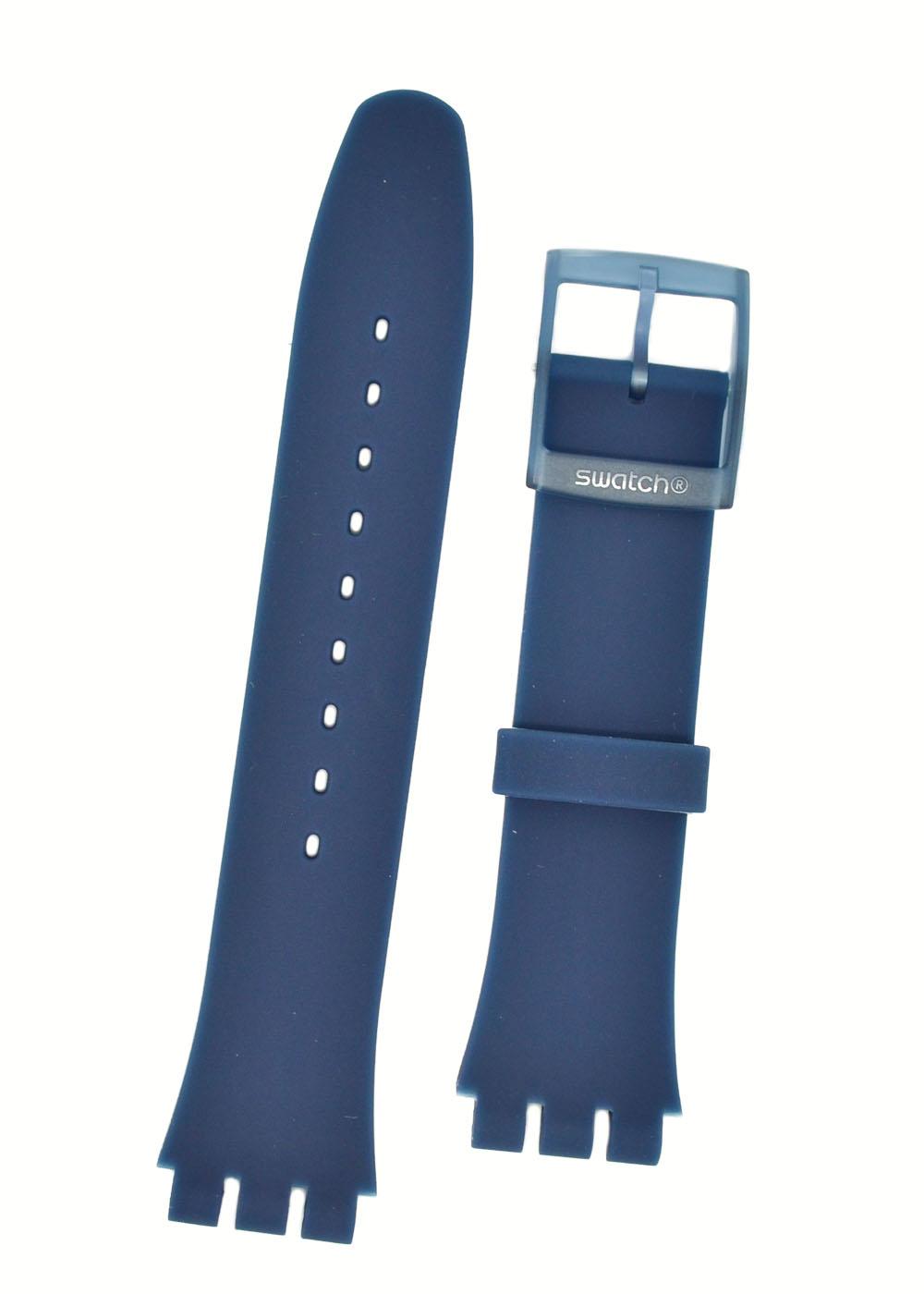 Swatch Blue Rubber Watch Strap 'Blue Rebel' ASUON700