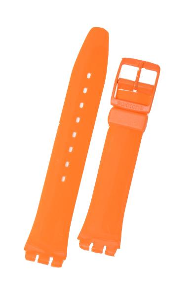 Swatch Strap Classic Orange  'Fresh Papaya' 17mm AGO105