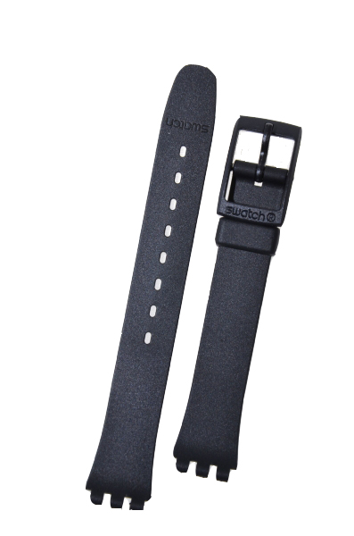 Swatch Strap Classic Black 12mm ALB153