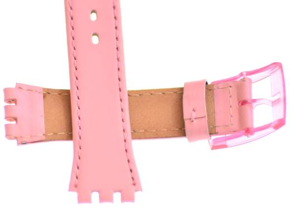 ab5995205 Swatch Skin Pink Leather Watch Strap Plain Pink pinkskin