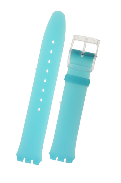 Swatch Blue Rubber Skin Strap  Blue Classiness ASFK363