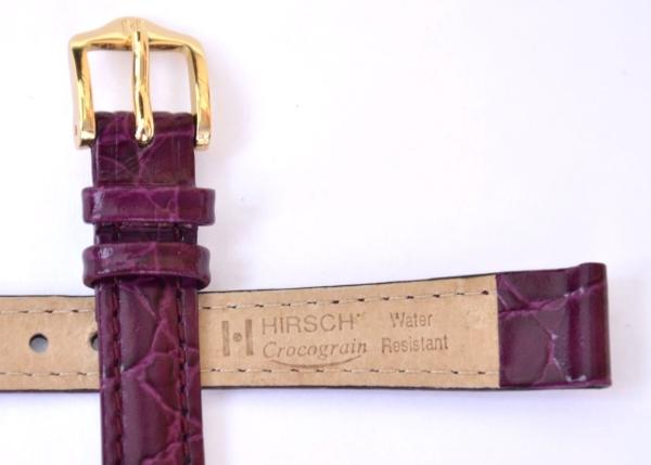 58fd2d210 Hirsch Crocograin Purple Leather Strap, 12mm 12302886-1-12
