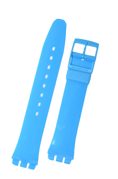 Swatch Strap Classic Light Blue  'Rise Up' 17mm AGS138