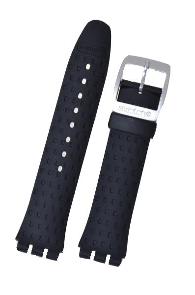 Swatch Black Rubber Big Irony Watch Strap 'Wildly'   AYCS4024