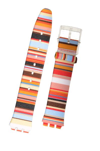Swatch Skin Strap 'Mille Linie'   ASFK140