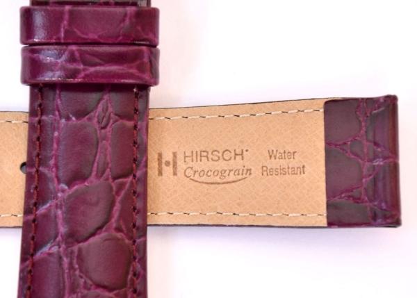 30a2dc6b5 ... Hirsch 'Crocograin' Purple Leather Strap, 20mm