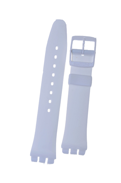 Swatch Strap Classic White Soft 'Just White' 17mm AGW151O