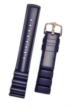 Hirsch 'Extreme' 20mm Premium Blue Rubber Strap  - 40498880-2-20