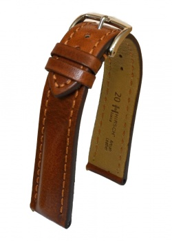 Hirsch 'Lucca' Golden Brown Leather Strap, 20mm - 04902070-2-20