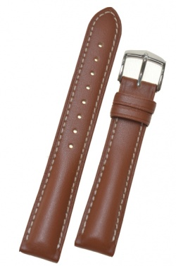 Hirsch 'Heavy Calf' 24mm  Golden Brown Leather Strap  - 01475070-2-24