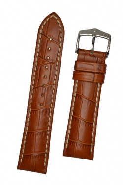 Hirsch 'Modena' Honey Leather Strap, 22mm - 10302875-2-22