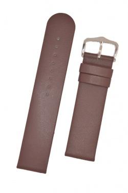 Hirsch 'Scandic' Taupe, leather watch strap 28mm - 17852012-2-28