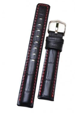 Hirsch 'Grand Duke' XL High Tech 20mm Black Leather Strap  - 02528250-2-20