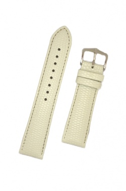 Hirsch 'Rainbow' M White Leather Strap, 18mm - 12302600-2-18