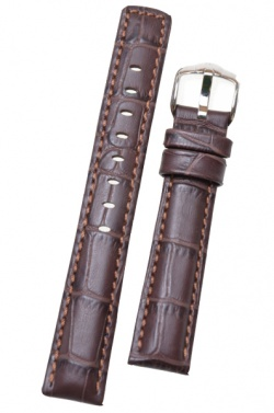 Hirsch 'Grand Duke' 22mm Brown Leather Strap  - 02528010-2-22