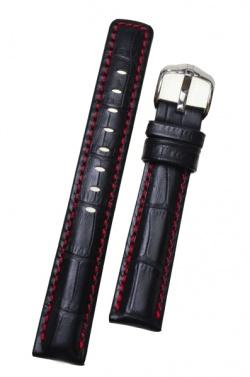 Hirsch 'Grand Duke' High Tech 22mm Black Leather Strap  - 02528050-2-22