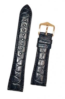 Hirsch 'Regent' M Blue Leather Strap, 17mm - 04107189-1-17