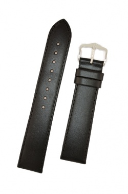 Hirsch 'Umbria ' L Black Leather Strap, 18mm - 13720250-2-18