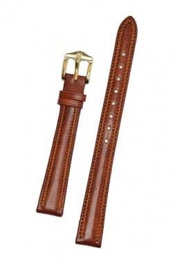 Hirsch 'Ascot' 14mm Golden Brown Leather Strap  - 01575170-1-14