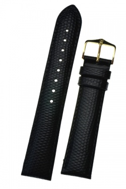 Hirsch 'Rainbow' L Black Leather Strap, 19mm - 12322650-1-19
