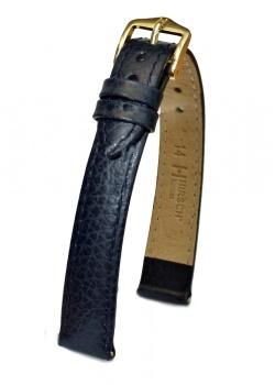 Hirsch 'Kansas' 14mm Blue Leather Strap  - 01502180-1-14