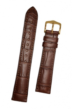 Hirsch 'London' L Brown Leather Strap, 21mm - 04207019-1-21