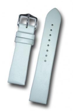 Hirsch 'Italocalf' White ,M,  Leather Strap, 20mm - 17802000-1-20