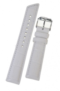 Hirsch 'Princess' White Leather Strap, 18mm - 02628101-2-18