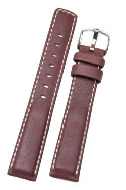 Hirsch 'Mariner' 24mm Brown Leather Strap  - 14502110-2-24