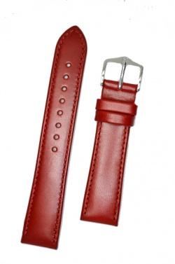 Hirsch 'Osiris' Red Leather Strap, 18mm - 03475120-2-18