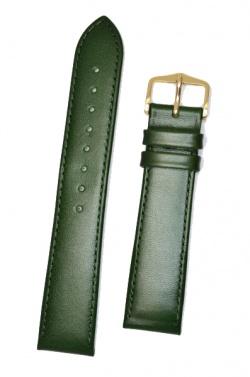 Hirsch 'Osiris' L Green Leather Strap, 18mm - 03475040-1-18