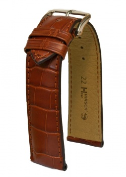 Hirsch 'Earl' 22mm Golden Brown Alligator Leather Strap  - 04707079-1-22