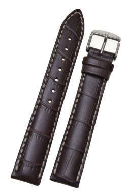 Hirsch 'Modena' L Brown Leather Strap, 19mm - 10302810-2-19