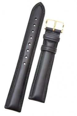 Hirsch 'Ascot' 18mm Black Leather Strap  - 01575050-1-18