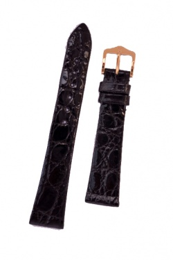 Hirsch 'Prestige' M 17mm Black Leather Strap  - 02208150-1-17