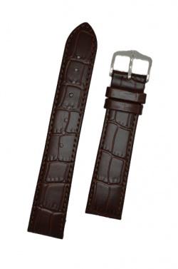 Hirsch 'LouisianaLook' Brown Leather Strap, 16mm - 03427010-2-16
