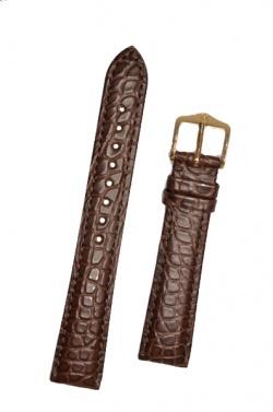 Hirsch 'Regent' M Brown Leather Strap, 16mm - 04107119-1-16