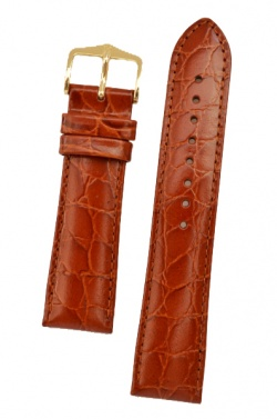 Hirsch 'Crocograin' Long Tan Leather Strap, 18mm - 12322870-1-18