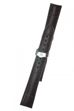 Hirsch 'Lord' Brown Leather Strap, 18mm - 04528010-2-18