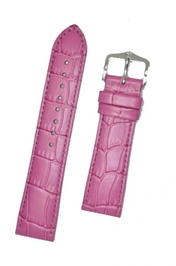 Hirsch 'LouisianaLook' M Pink Leather Strap, 20mm - 03427125-2-20