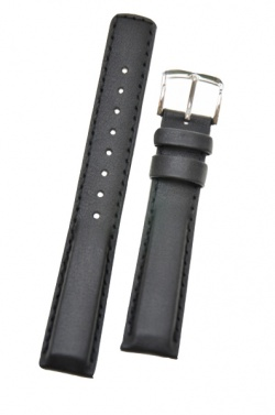 Hirsch 'Runner' 24mm Black Leather Strap  - 04002050-2-24