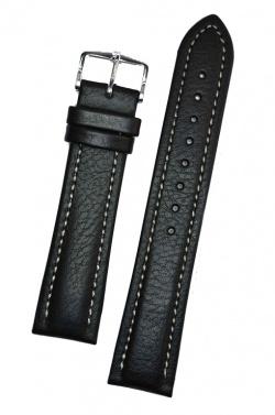 Hirsch 'Buffalo' L 22mm Black Leather Strap  - 11320250-2-22