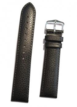 Hirsch 'Kansas' Black Calf Leather Strap, 20mm - 01502050-2-20