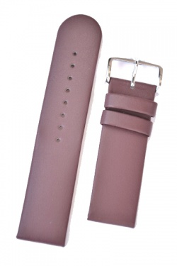 Hirsch 'Scandic' Taupe, leather watch strap 18mm - 17852012-2-18