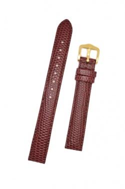 Hirsch 'Rainbow' M Burgundy Leather Strap, 16mm - 12302660-1-16