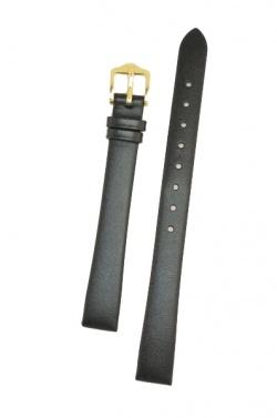 Hirsch 'Italocalf' 14mm ,L, Black Leather Strap  - 17822050-1-14