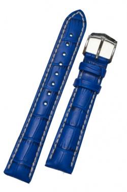 Hirsch 'Modena' Blue Leather Strap, 22mm - 10302885-2-22