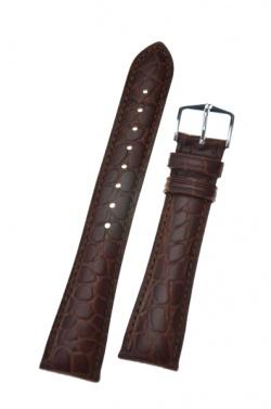 Hirsch 'Aristocrat' 19mm Brown ,L, Leather Strap  - 03828010-2-19