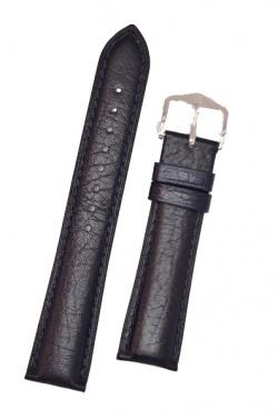Hirsch 'Camelgrain' L 20mm Blue Leather Strap  - 01009080-2-20